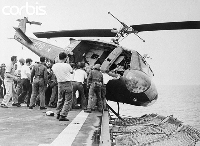 US Choppers Ditched After Saigon Pull-out