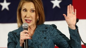 18 Apr 2015, Nashua, New Hampshire, USA --- FILE - In this April 18, 2015 file photo, Carly Fiorina speaks at the Republican Leadership Summit in Nashua, N.H. (AP Photo/Jim Cole) --- Image by © Jim Cole/AP/Corbis