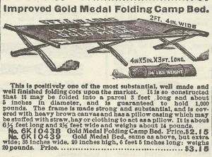 Gold Medal Folding Cot