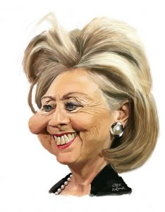 Hillary Clinton caricature web